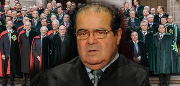 Judge Scalia Was With Members of an Elite Secret Society When He Died. In short, one of the nine Judges of the highest federal court of the United States died during the gathering of an occult secret society. That death was promptly pronounced to be of natural causes. No autopsy was performed on the body and no investigation took place. Scalia therefore could have been poisoned (for whatever reason) and nobody would ever find out.