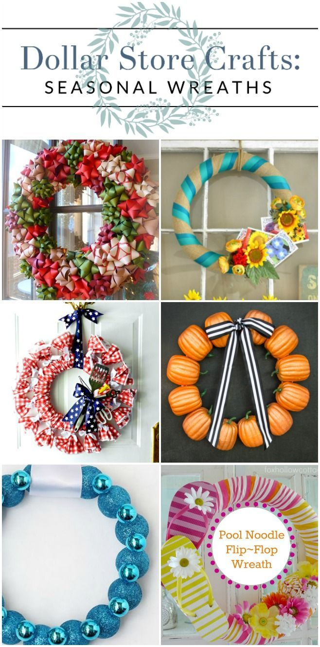 Diy Dollar Store Wreaths For Every Season With Images Dollar
