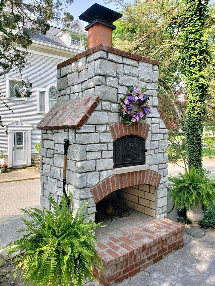 Custom Built Outdoor Fireplace Pizza Oven Combo Build Outdoor Fireplace Outdoor Fireplace Designs Backyard Fireplace