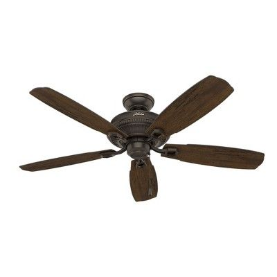 Hunter Fan 15.9 X 25.5 X 9.9 Inch Bronze Brown Lighted Ceiling Fans