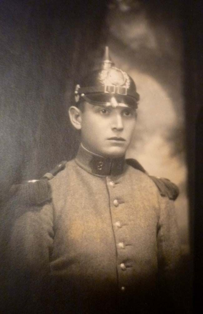 Colonel J's - Articles -Latin American Infantryman of the 3rd Infantry Regiment, wearing his Model 1910 pickelhaube (with leather chinstrap).Coll. Raúl Yáñez M.