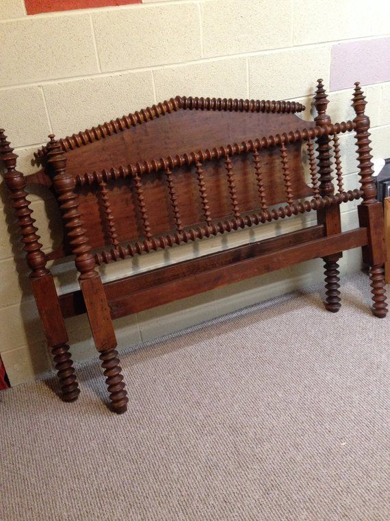 Antique Spool Bed See Shipping Options Double Head Board Foot Board Jenny Lind Style Wonderful Vintage New England Mas Spool Bed Antique Beds Beautiful Bedding