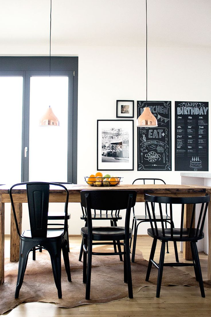 INDECORATE Make Over: Modern Kitchen In Scandinavian Style With Wooden  Dining Table And Black