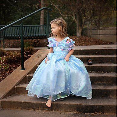 Girl's+Summer+Dress+Inelastic+Cinderella+Princess+Dress+Thin+Short+Sleeve+Dresses+(Organza)+–+USD+$+15.99