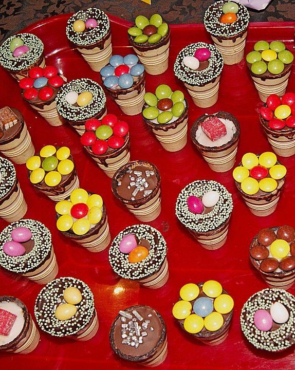 Kleine Kuchen Im Waffelbecher Rezepte Pinterest Muffins