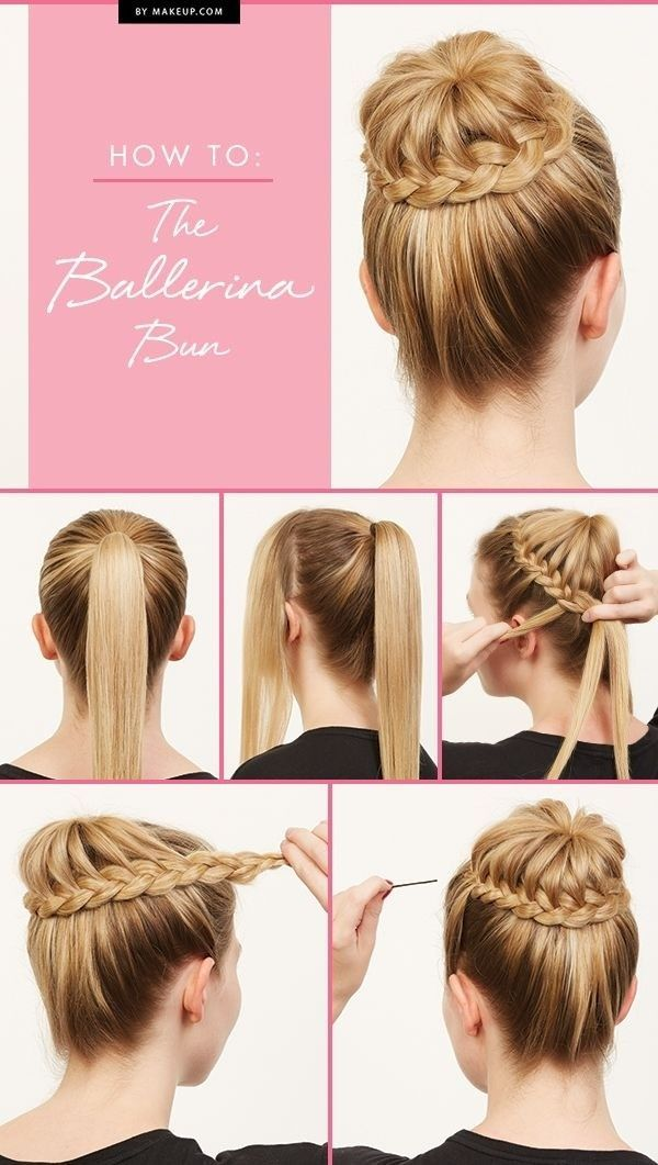 Braided ballerina bun tutorial.