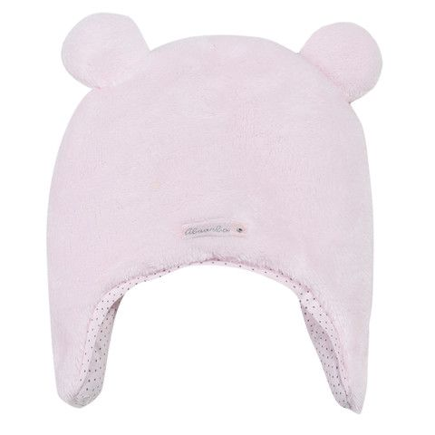 Absorba Faux Fur Pink Baby Hat with Ears - Dandy Lions Boutique # cute #babyclothes