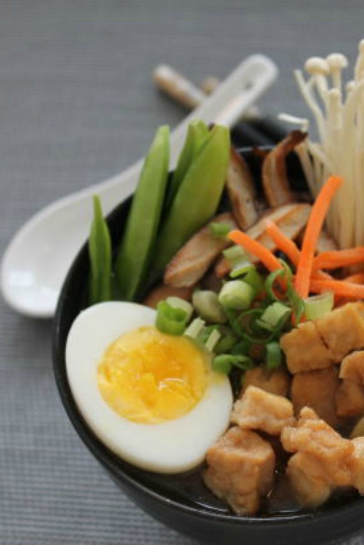Homemade Ramen noodle soup recipe. A beautiful bowl full of fresh broth for dinner!