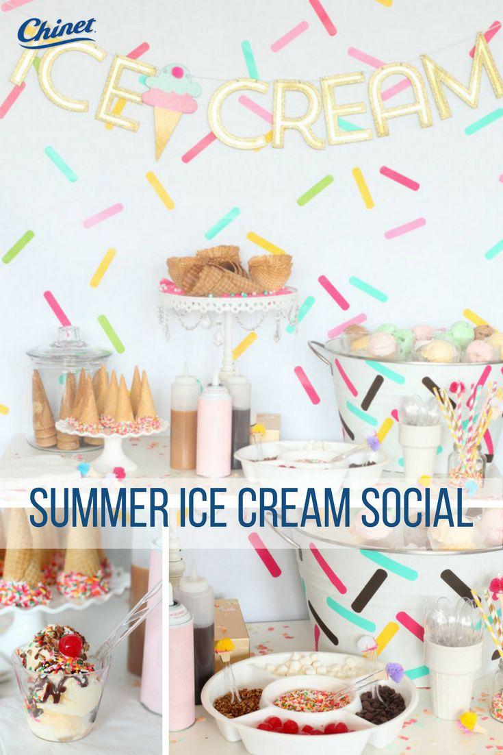 Simple Summer Ice Cream Social