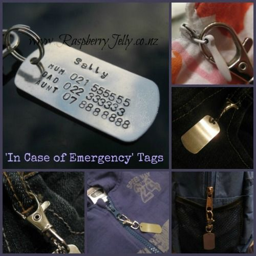 I.C.E. Tags = In Case of Emergency tags