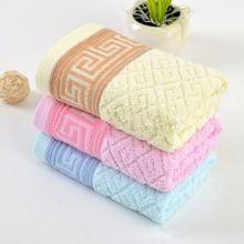 2 шт. 100% органического хлопка полотенца лица для взрослых высокое качество салон полотенца мягкие быстросохнущие махровые полотенца ванной 35 x 75 см H655(China (Mainland))