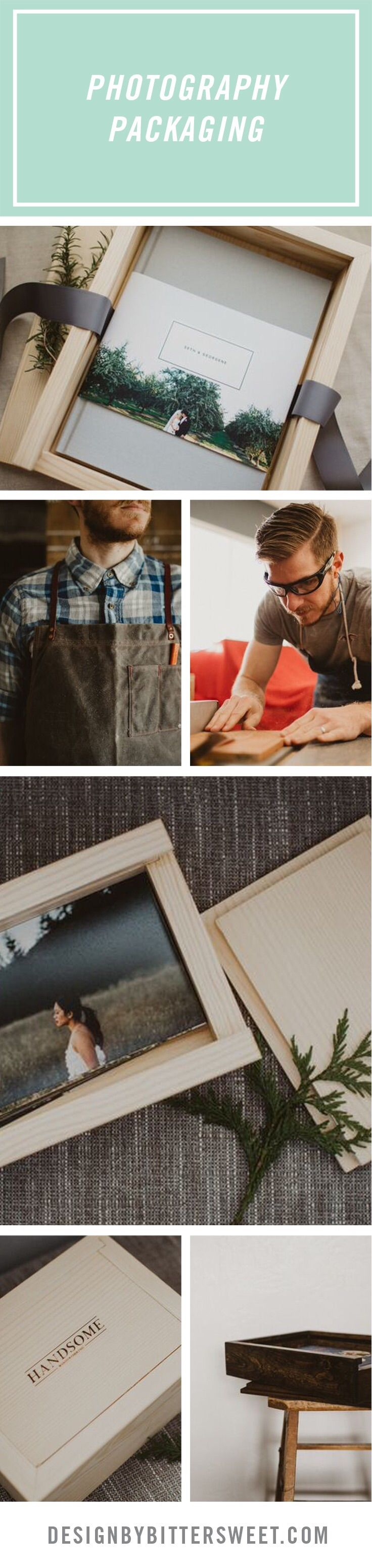 Check out this blog post for outside the box packaging ideas for photographers. Wooden album and photo boxes for unique delivery to your wedding couples from @brandonwehman