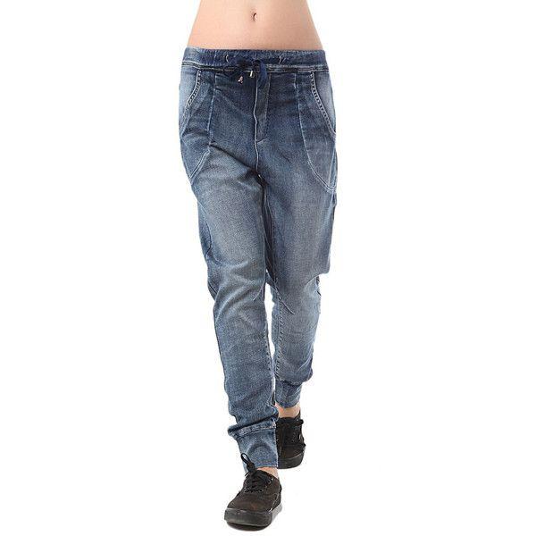 Denim jogger with drawstring waist - All My DIBS - 1