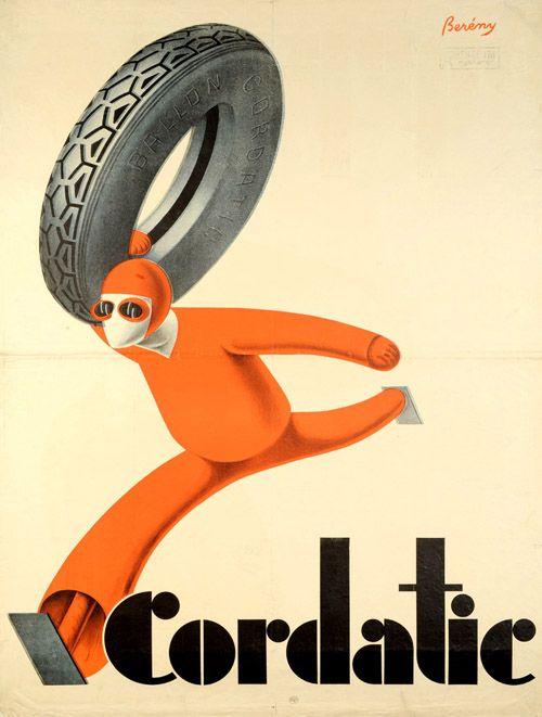 Berény Róbert: Cordiatic gumiabroncs, 1927 - Kép: Várkonyi Plakátgaléria