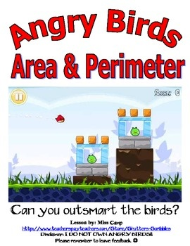 Teaching area and perimeter using Angry Birds for my math teachers