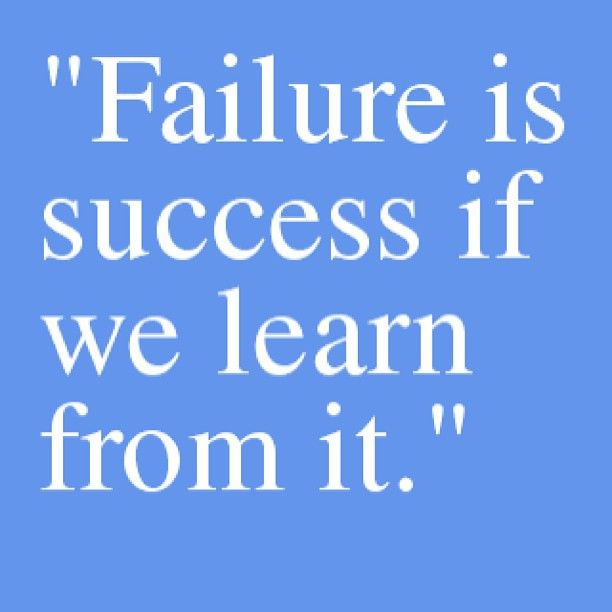 Inspirational Quotes About Failure: Motivation Picture Quote Failure And Success
