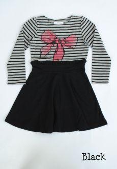 Peekaboo Beans - Seeing Stripes Dress | playwear for kids on the grow! | Shop at www.peekaboobeans.com