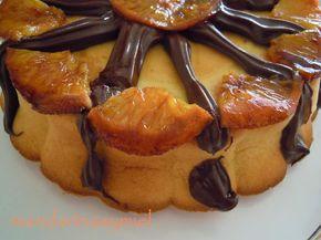 Bizcocho de naranja y chocolate.