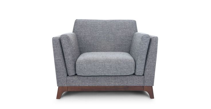 Gray Sofa 3 Seater With Solid Wood Legs Article Ceni