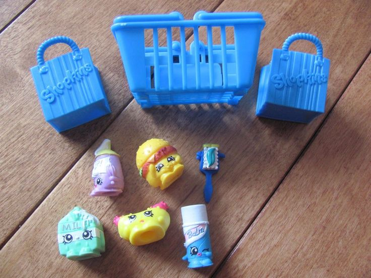Shopkins Season 1 Lot of 6 w/ 2 Bags and 1 Basket you get exact item shown NEW