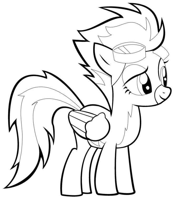 Spitfire My Little Pony Coloring Page My Little Pony Coloring My Little Pony Twilight Coloring Pages