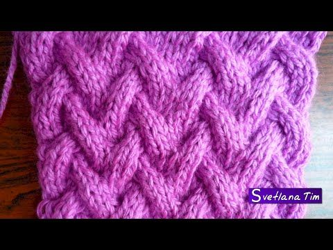 Вязание спицами, крючком со схемами. Модели, схемы и описания вязания спицами и крючком: Узор КОРЗИНКА. Вязание спицами # 88