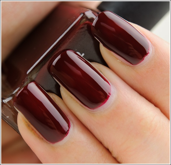 Deborah Lippmann Single Ladies Nail Lacquer - a deep blood, garnet red nail polish. Love this.