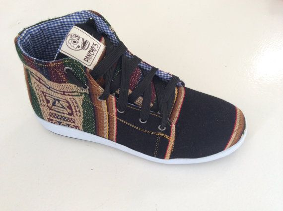 PANCHO'S FOOTWEAR  Men's Black High Top by PanchosFootwear on Etsy