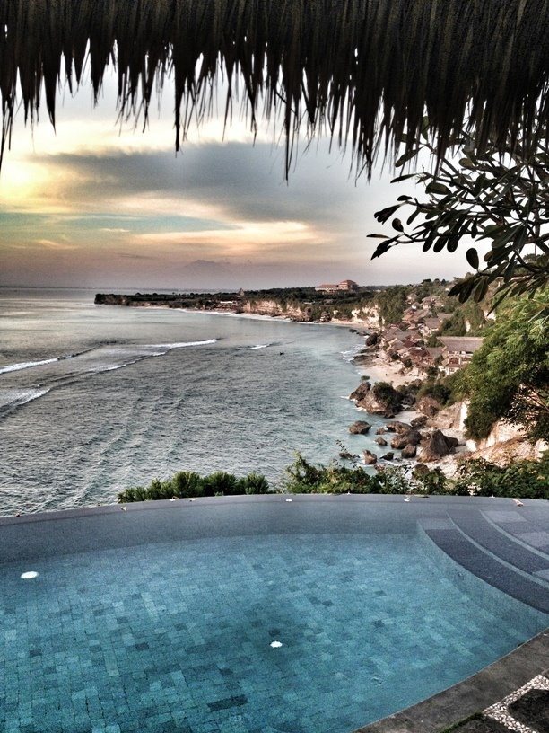 The view from the villa room in Bayuh Sabbha Villa, Uluwatu