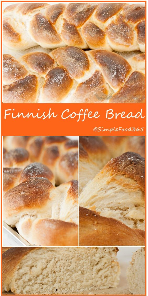 Lightly sweet with the warm hint of cardamom, this flavorful and rich Finnish Coffee bread is a perfect treat to enjoy with coffee or tea.   SimpleFood365