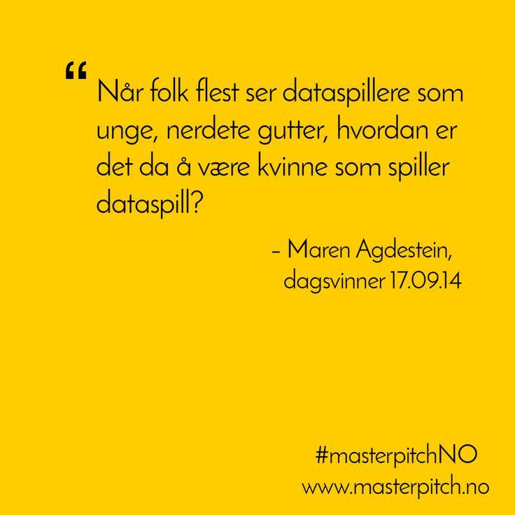 #dagenspitch 17.09, gratulerer Maren Agdestein