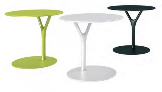 Multipurpose Side Table Made Of Powder Coated Steel – Wishbone Table by Buck and Hertzog | DigsDigs