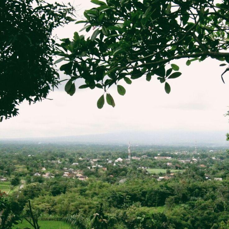 Jogja preview from top of Candi Ratu Boko.