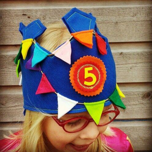 Birthday crown felt #verjaardagskroon