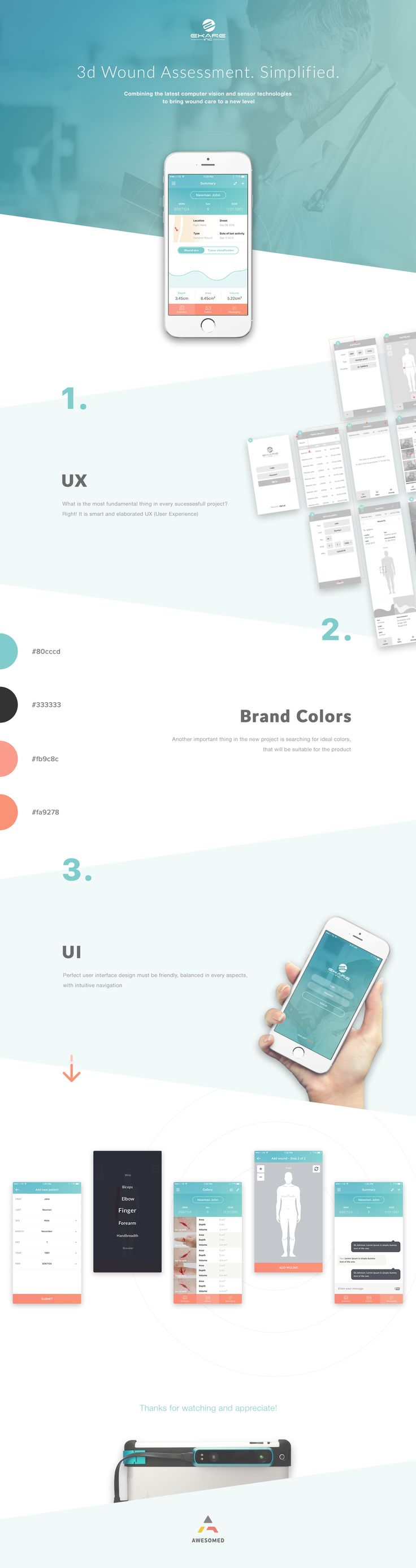 Medecine Startup. UX/UI design for eKare Inc. on Behance