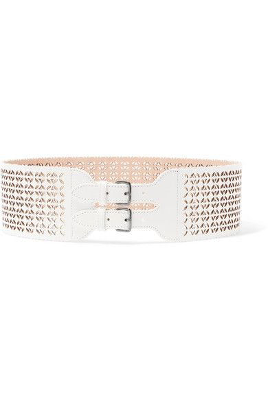 White leather Buckle fastenings Made in Italy