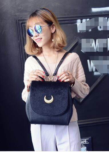 Fashion Cat Ears Sailor Moon Bag Samantha Vega Black Women Shoulder Bags Crossbody Bag for Girl Messenger Bags Fur borsa