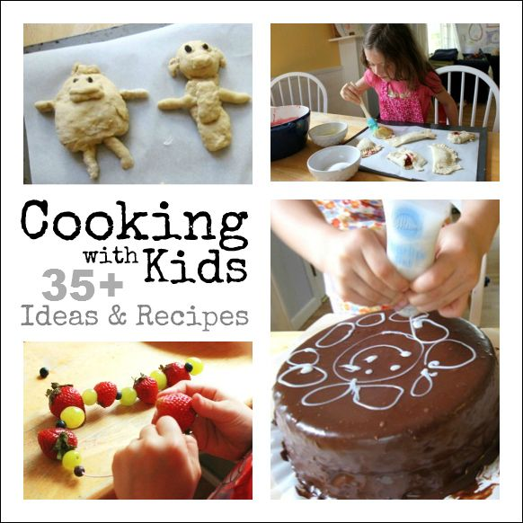 Cooking with Kids :: 35+ Ideas and Recipes: Kids Recipe, Cooking Ideas, Kids Ideas, 35 Ideas, Kid Cooking, Kids Food Idea, Fun Kids Food, Artful Parent