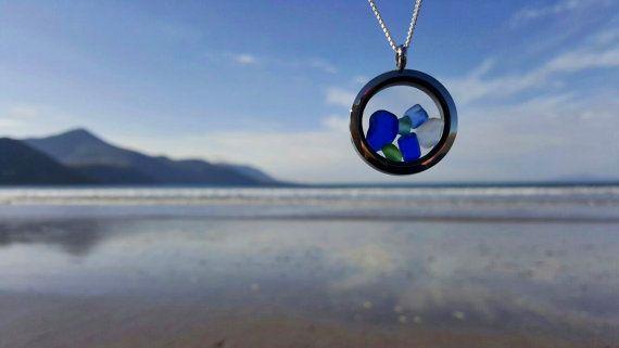 Sea Glass Locket Sea Glass Pendant Sea by EveryoneLovesTheSea