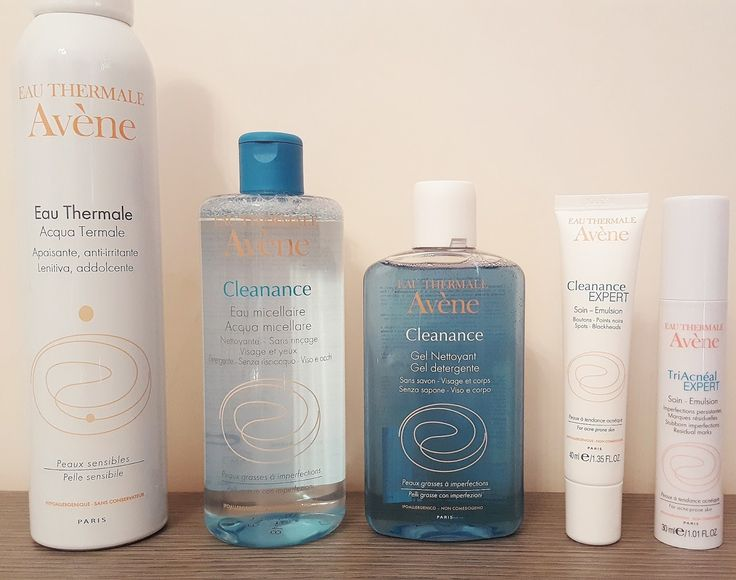 Skin Care Routine Avène Cleanance #skincare #routine #avene #cleanance #eau #thermale #micellaire #gel #nettoyant #expert #triacneal