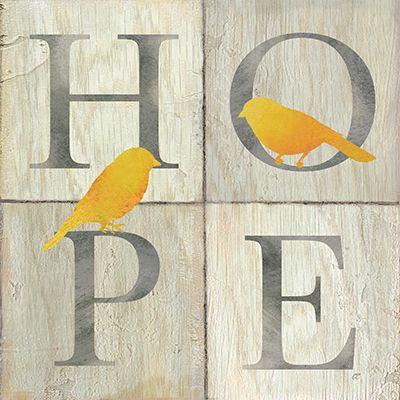RB6733CC   Hope/Wish Bird I   12x12