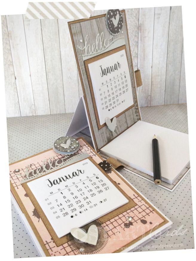 Tischkalender 2019 Mit Notizblock Kalender Basteln