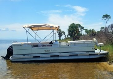 capesanblasboatrentals.com  Rent pontoon boat from the state park about 2 min from rental unit