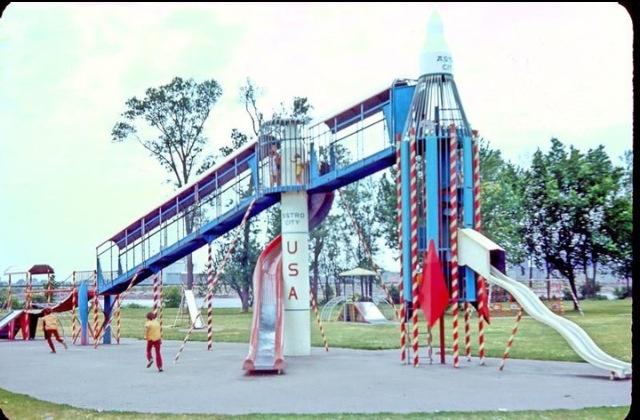 Calumet Park Rocket Slide Those Were The Days