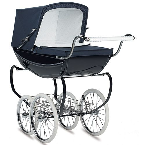 """""""Babies are not jogging accessories. What if they were to choke on a fly, or get a sunburn, or be thrown from the stroller after speeding over a sidewalk crack? Thinking about it makes me physically sick, and I can barely finish typing this. Philip rides around without harm in this stately and elegant pram."""" - Angela Martin"""