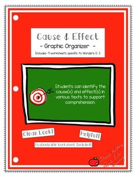 This graphic organizer was created to help students to understand causes and effects when they are reading. Students are encouraged to sketch, then provide a sentence explaining the cause and effects using the keywords (cause, since, because, etc.) Included: -8 worksheets specific to the 3rd Grade Wonders Curriculum -1 blank worksheet that will let you customize the worksheet so you can include any other