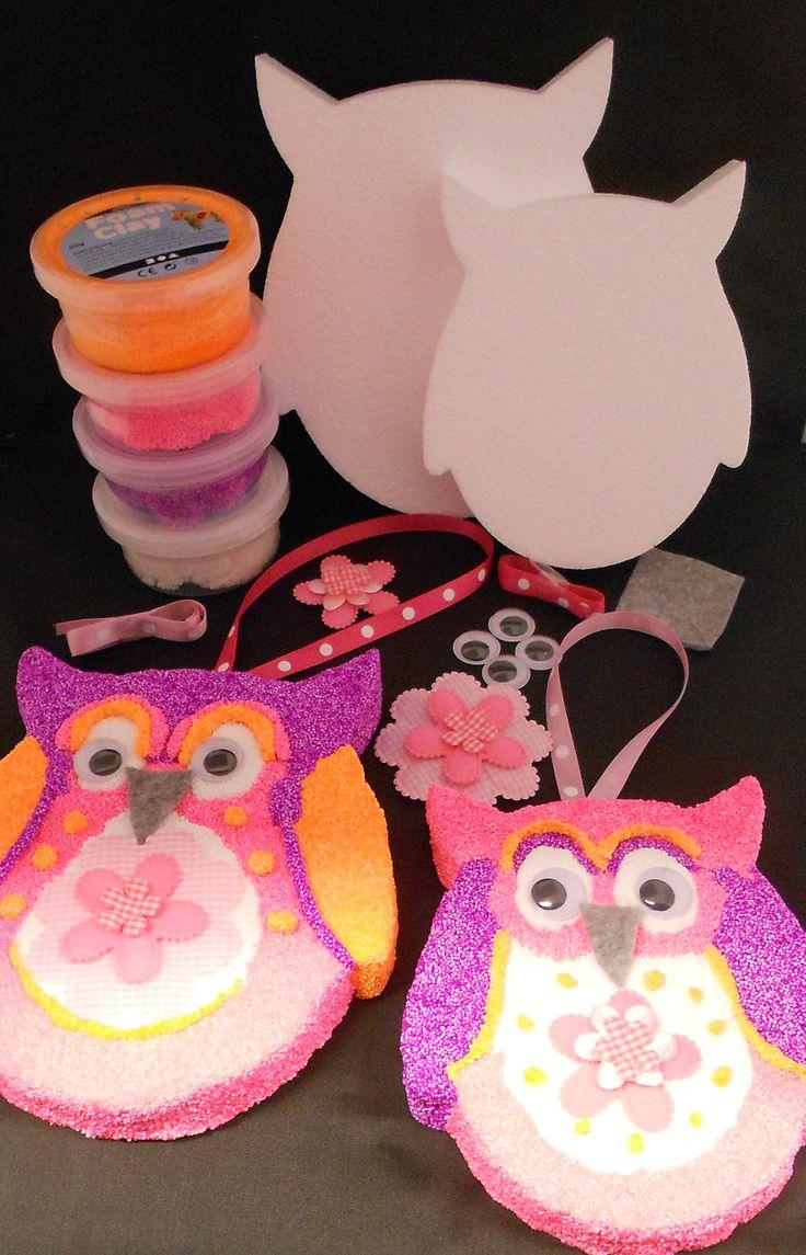 Foam clay pakket uilen om zelf te maken