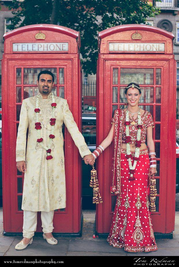 Indian Wedding in London by Tom Redman. So cute!
