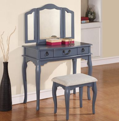 Exceptional Explore The Makeup Tables On EFurnitureHouse.com Including The Miranda Blue  Grey Makeup Table With