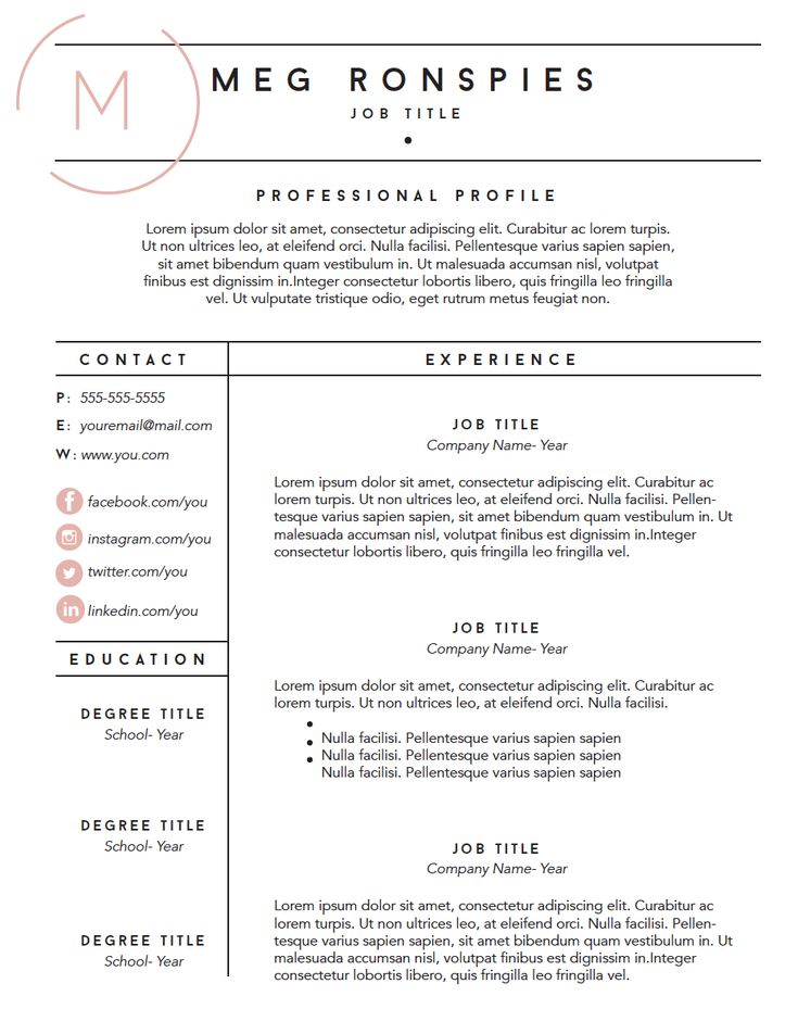 Free Fillable Resume Template Mpronspies Com Resume Resume Template Templates